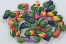 50 ASSORTED COLOUR Mulberry Paper Rose Buds (L) (only flower head) (1)